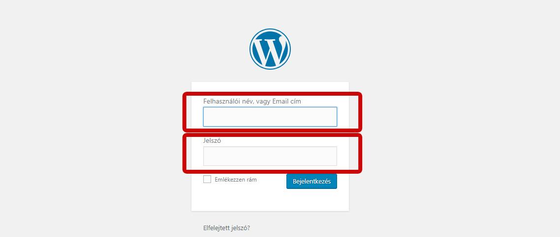 Wordpress belépés