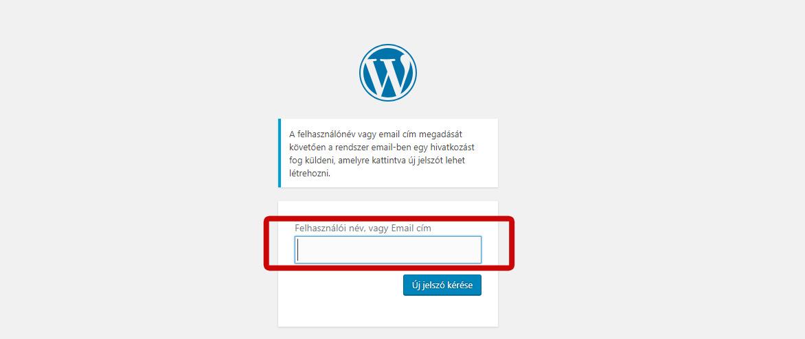 Wordpress elfelejtett jelszó megoldása